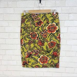 Ann Taylor Tropical Flower Pencil Skirt 6TALL(S20)